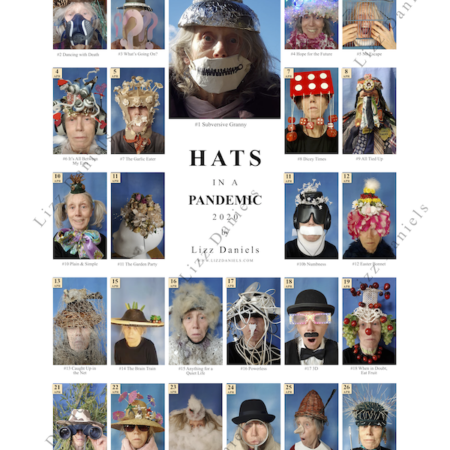 Watermarked visual of Lizz Daniels Poster hats 1 to 24