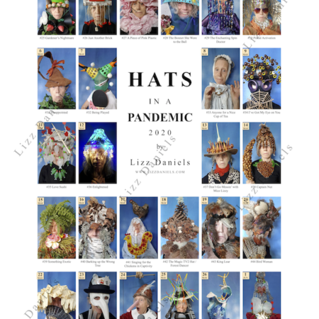 Watermarked visual of Lizz Daniels Poster hats 25-50
